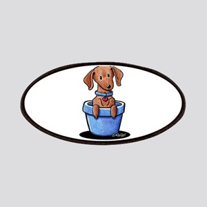 KiniArt Potted Doxie Patches