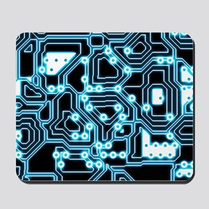 ElecTRON - Blue/Black Mousepad