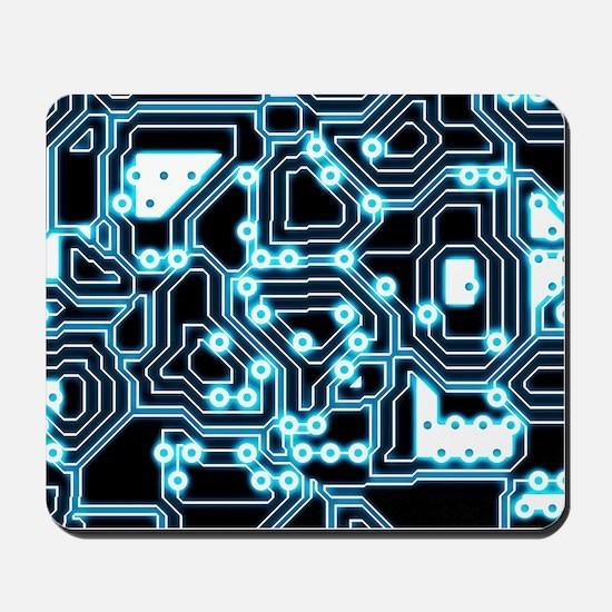 ElecTRON - Blue/Black Mousepad