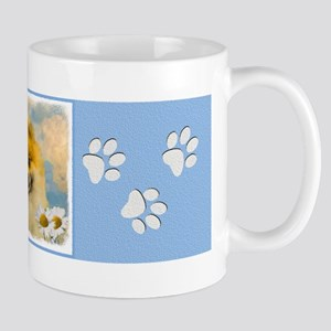 Pomeranian in Daisies 11 oz Ceramic Mug