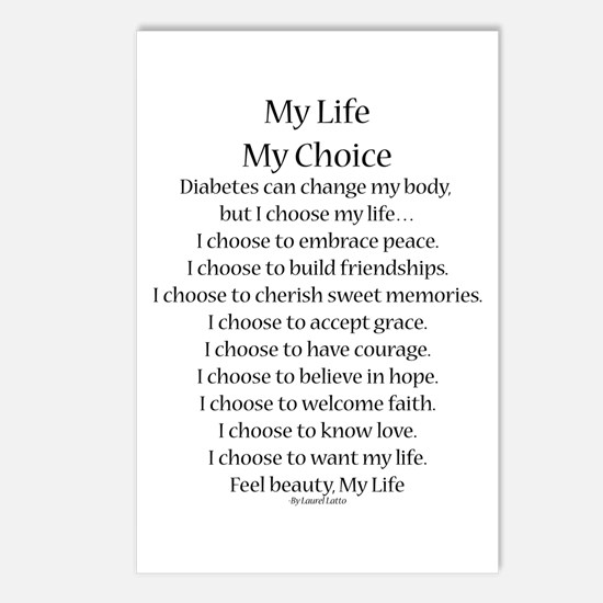 My Life, My Choice Poem (Black) Postcards (Package