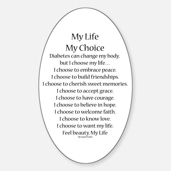 My Life, My Choice Poem (Black) Decal