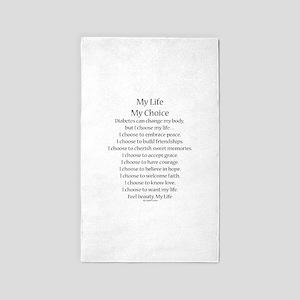 My Life, My Choice Poem (Black) 3'x5' Area Rug