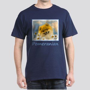 Pomeranian in Daisies Dark T-Shirt