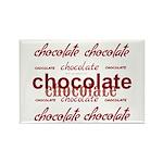 Celebrate Chocolate Rectangle Magnet