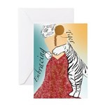 Embracing Tiger Greeting Card