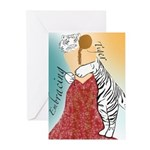 Embracing Tiger Greeting Cards (Pk of 10)