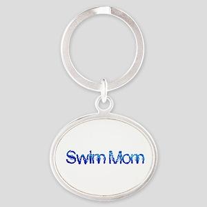 Swim mom waterdrop Keychains