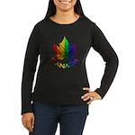 Canada Gay Pride Women's Long Sleeve Dark T-Shirt