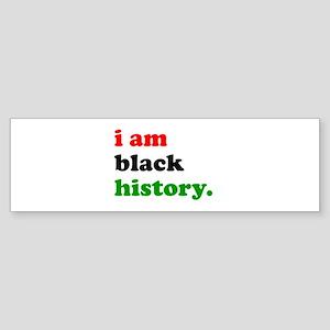 I Am Black History Bumper Sticker