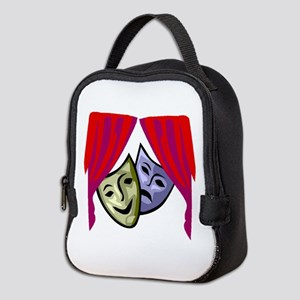 COMEDY AND TRAGEDY MASKS Neoprene Lunch Bag