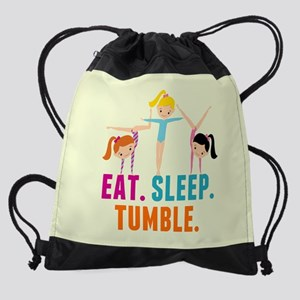 Eat Sleep Tumble Drawstring Bag