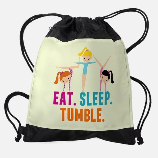 Eat Sleep Tumble Drawstring Bag