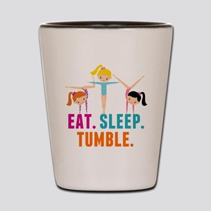 Eat Sleep Tumble Shot Glass