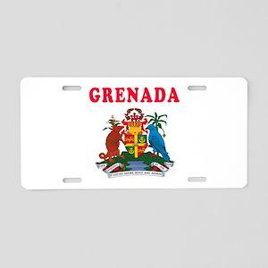 Grenada Coat Of Arms Designs Aluminum License Plat