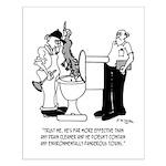 Plumbing Cartoon 2407 Small Poster