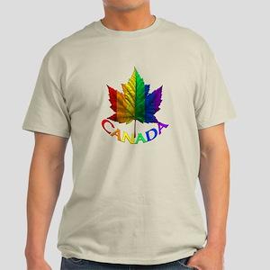 Canadian Pride T-Shirt Rainbow Maple Leaf