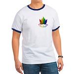 Canada Pride Ringer T-shirt Rainbow Maple leaf