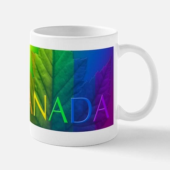 Canada Gay Pride Mug Coffee Cup Rainbow Leaf