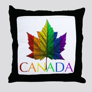Gay Pride Canada Throw Pillows & Souvenirs