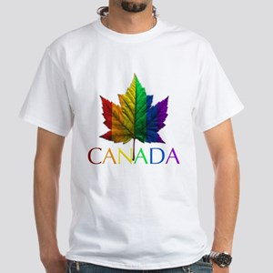 Canadian Gay Pride White T-Shirt