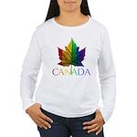 Canada Gay Pride Women's Long Sleeve T-Shirt