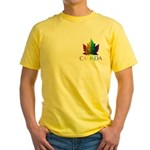 Canadian Gay Pride Yellow T-Shirt
