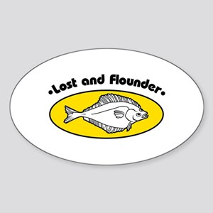 Lost and Flounder Sticker (Oval)