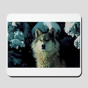 Snow Wolf Mousepad