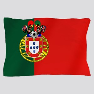 Portugal Football Flag Pillow Case