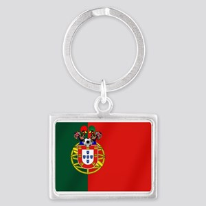 Portugal Football Flag Landscape Keychain