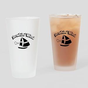 Breaking Wind Sail Boat Drinking Glass