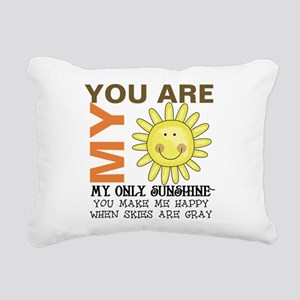 You Are My Sunshine Rectangular Canvas Pillow
