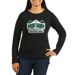 Mt Ranier NP Women's Long Sleeve Dark T-Shirt