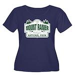 Mt Ranier NP Women's Plus Size Scoop Neck Dark T-S