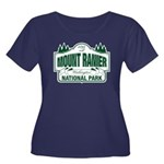 Mt Ranier NP Women's Plus Size Scoop Neck Dark T-S