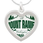 Mt Ranier NP Silver Heart Necklace