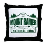 Mt Ranier NP Throw Pillow