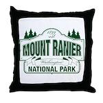 Mt Ranier NP Throw Pillow