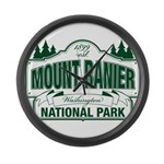 Mt Ranier NP Large Wall Clock