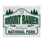 Mt Ranier NP Throw Blanket