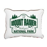 Mt Ranier NP Rectangular Canvas Pillow