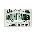 Mt Ranier NP Rectangle Magnet