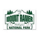 Mt Ranier NP Rectangle Car Magnet