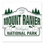 Mt Ranier NP Square Car Magnet 3
