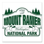Mt Ranier NP Square Car Magnet 3