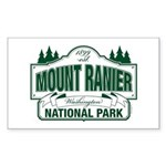 Mt Ranier NP Sticker (Rectangle)