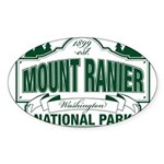 Mt Ranier NP Sticker (Oval)