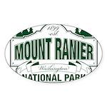 Mt Ranier NP Sticker (Oval 10 pk)