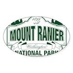 Mt Ranier NP Sticker (Oval 50 pk)